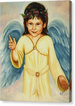 Angel In Yellow Canvas Print by Joni McPherson