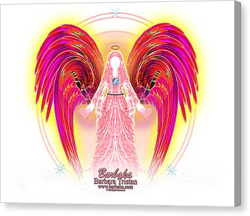 Angel Intentions Divine Timing Canvas Print by Barbara Tristan