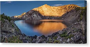 Angel Lake Canvas Print by Leland D Howard