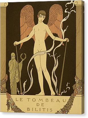 Angel Le Tombeau De Bilitis Canvas Print by Georges Barbier