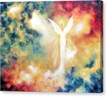 Canvas Print featuring the painting Angel Light by Marina Petro