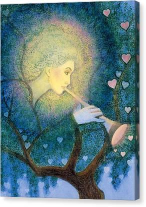 Angel Love Call Canvas Print by Sue Halstenberg