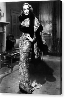 Angel, Marlene Dietrich, Costume Still Canvas Print by Everett