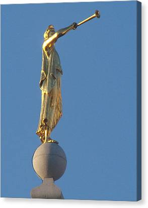 Angel Moroni Statue Canvas Print by Wayne Whitney