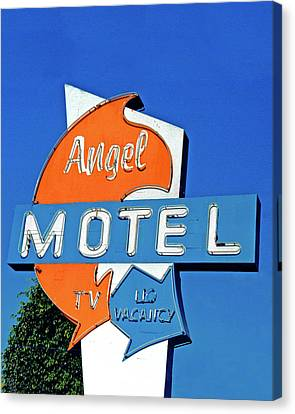 Canvas Print featuring the photograph Angel Motel by Matthew Bamberg
