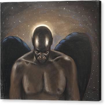 Angel Noir Canvas Print by L Cooper