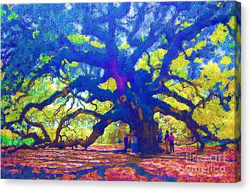 Canvas Print featuring the photograph Angel Oak Tree by Donna Bentley