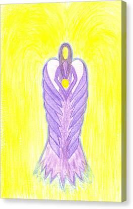 Angel Of Compassion Canvas Print by Konstadina Sadoriniou - Adhen