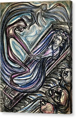 Angel Of Death Canvas Print by Taylan Apukovska