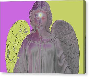 Angel Of Devotion No. 07 Canvas Print by Ramon Labusch