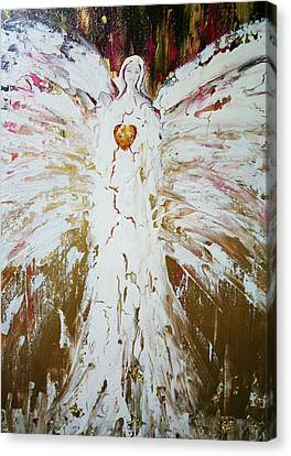 Angel Of Divine Healing Canvas Print by Alma Yamazaki
