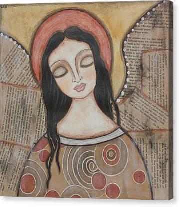 Angel Of Dreams Canvas Print by Rain Ririn