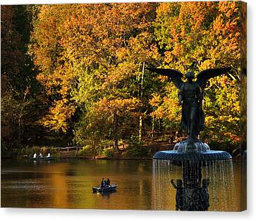 Angel Of Golden Waters Canvas Print