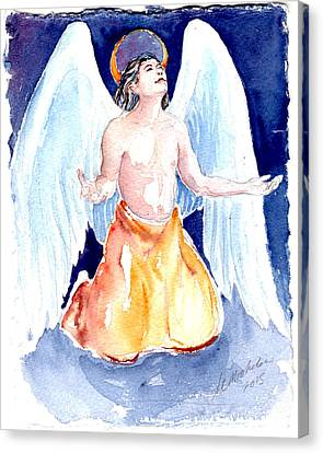 Angel Of Gratitude Canvas Print