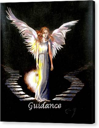 Angel Of Guidance Canvas Print by Concept by Rev Kathleen L Dixon Artist Greg Crumbly