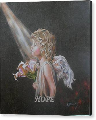 Angel Of Hope Canvas Print by Concept by Rev Kathleen L Dixon Artist Greg Crumbly