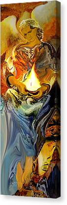 Angel Of Light Canvas Print by Anne Weirich