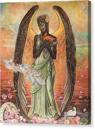 Angel Of Love Canvas Print by Buena Johnson
