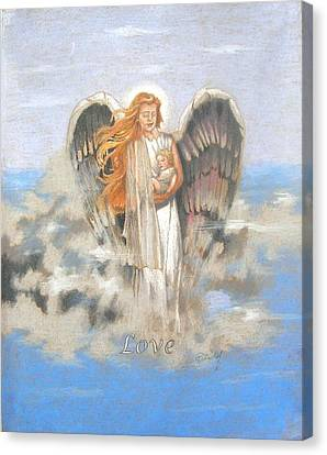 Angel Of Love Canvas Print by Concept by Rev Kathleen L Dixon Artist Greg Crumbly
