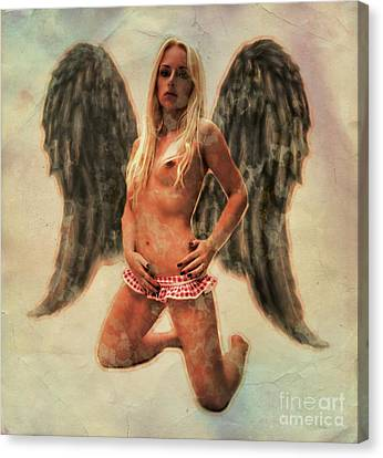 Dracula Canvas Print - Angel Of Lust By Mb by Mary Bassett