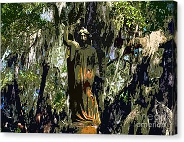 Angel Of Savannah Canvas Print by David Lee Thompson