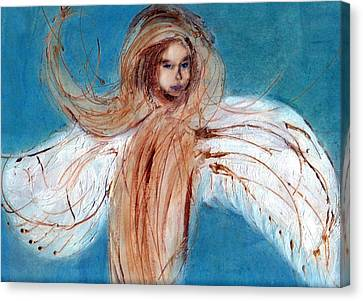 Angel Of The Day Star Canvas Print by Michela Akers