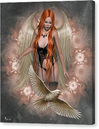 Angel Of The Ravens Canvas Print