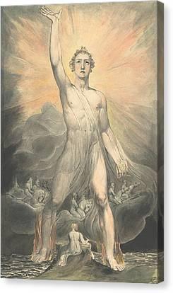 Blake Canvas Print - Angel Of The Revelation by William Blake