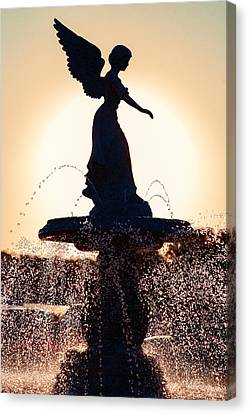 Winged Female Canvas Print - Angel Of The Waters by Todd Klassy