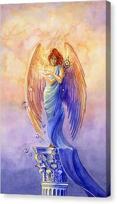 Angel Of Truth And Illusion Canvas Print by Janet Chui