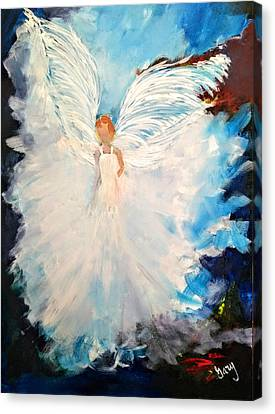 Angel Of Youth Canvas Print