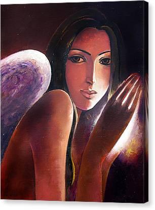 Angel Canvas Print by Ognian Kouzmanoav