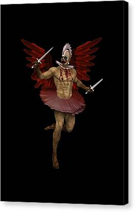 Angel Clown Canvas Print by Quim Abella