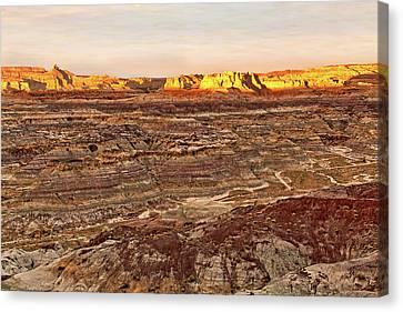 Canvas Print featuring the photograph Angel Peak Badlands - New Mexico - Landscape by Jason Politte