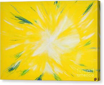 Canvas Print featuring the painting Angel by Ron Labryzz