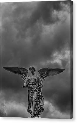 Angel Statue Bethesda Fountain Central Park 2 Canvas Print