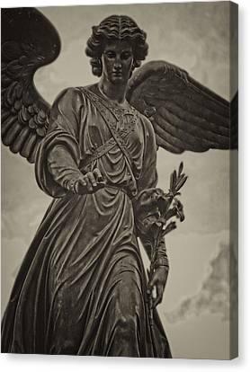 Angel Statue Bethesda Fountain Central Park Canvas Print