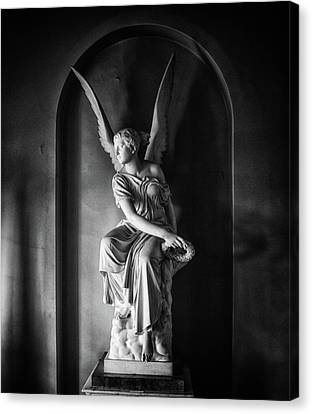 Angel Statue Canvas Print by Martin Newman