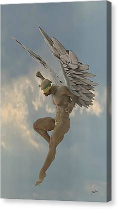 Angel That Watches Canvas Print