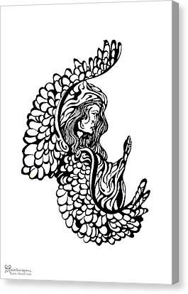 Angel Watching Canvas Print by Karen Musick