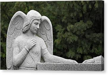 Angels Watching Canvas Print - Angel Watching Over Me by Dale Kincaid