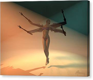 Angel Wing  Canvas Print by Michael Greenaway
