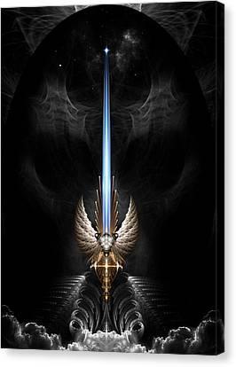 Angel Wing Sword Of Arkledious Dgs Canvas Print
