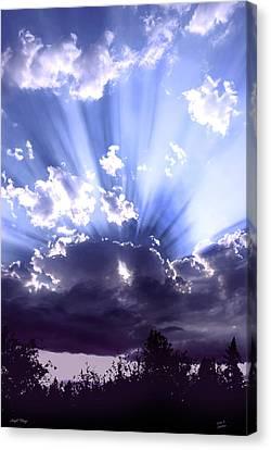 Sun Rays Canvas Print - Angel Wings by Diane C Nicholson