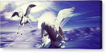 Angel With A Broken Wing Canvas Print