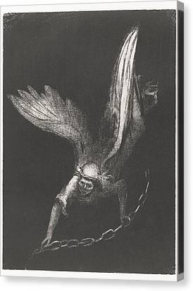 Angel With A Chain In His Hands Canvas Print