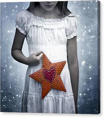 Angel With A Star Canvas Print by Joana Kruse