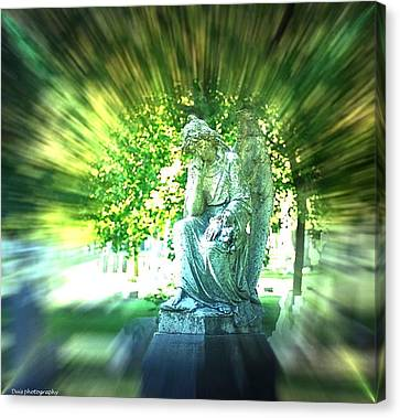 Angel With Effects Canvas Print by Vincent Duis