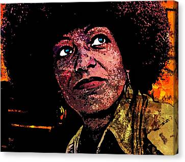Black Panther Party Canvas Print - Angela Davis-5 by Otis Porritt