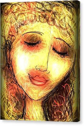 Angela Canvas Print by Elaine Lanoue